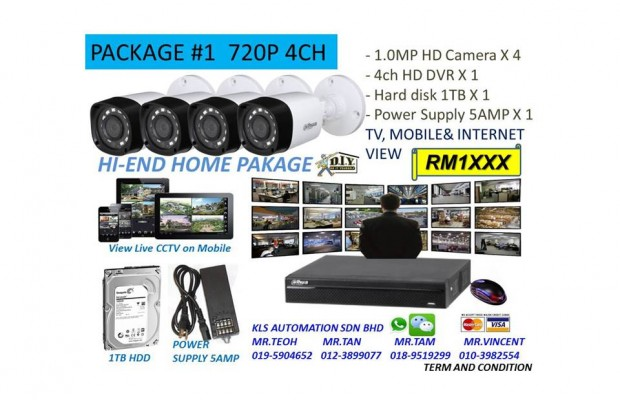 DIY Kit (4 Channel 720P Camera Package)