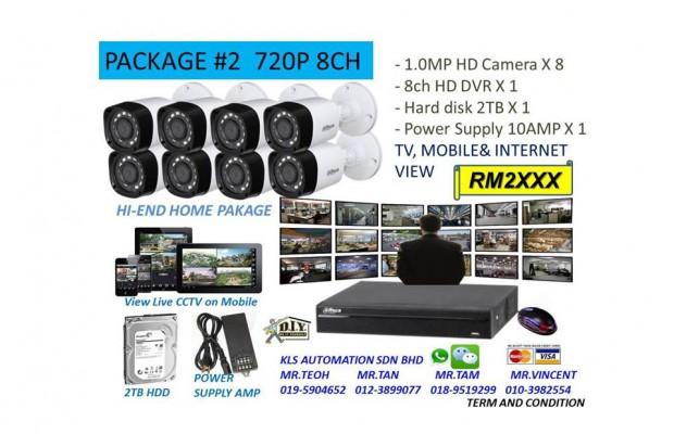 DIY KIT (8 Channel 720P Camera Package)