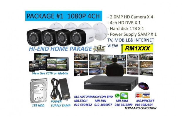 DIY KIT (4 Channel 1080P Camera Package)
