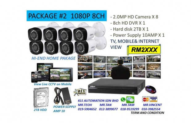 DIY KIT (8 Channel 1080P Camera Package)