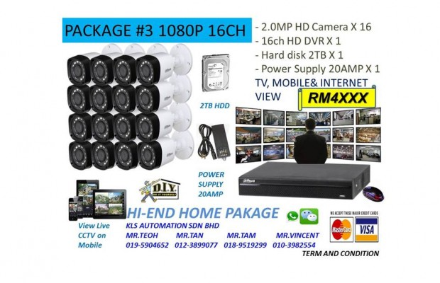 DIY KIT (16 Channel 1080P Camera Package)